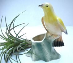 https://www.etsy.com/shop/VintageEllevenVintage Bird Planter Royal Copley Tanager on a by VintageElleven (Sold)