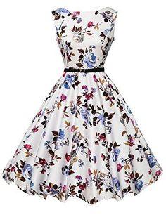 Oferta: 40.99€ Dto: -39%. Comprar Ofertas de Mujeres Hepburn estilo completo falda vestidos de fiesta vestido de novia Floral-22 barato. ¡Mira las ofertas!