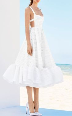 Madison Stripe Jacquard Portrait Midi by ALEX PERRY for Preorder on Moda Operandi