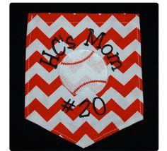 Baseball or Softball Mom Pocket T-Shirt {Spunky Fans}