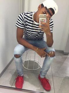 Teen Boy Fashion, Dope Fashion, Tomboy Fashion, Dope Outfits For Guys, Boy Outfits, Fashion Outfits, Black Men Street Fashion, Mens Boots Fashion, Swag Style