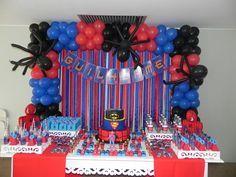 Da Oficina de Ideias BSB Superman Birthday Party, Avengers Birthday, Frozen Birthday Party, Birthday Parties, Spiderman Balloon, Spiderman Theme, Birthday Party Decorations, Craft Party, Lucca
