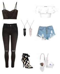 """""""me and friends"""" by veronicaleigh777 on Polyvore featuring Bling Jewelry, Derek Lam, Alexander McQueen, River Island, Nine West and Converse"""