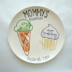"""""""Mommy's Sweeties"""" hand/footprint plate for Mother's Day 