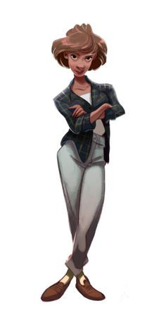Female character design illustration by Cecile Carre