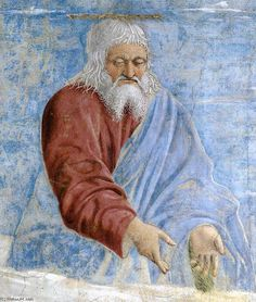 '10. Annunciation (detail) (8)', Frescoes by Piero Della Francesca (1415-1492, Italy)