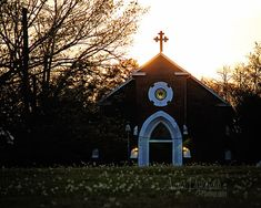 Country Chapel Photography  Glow  church cross by annadykema, $30.00