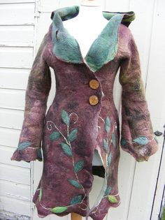Woman of the Woods Hand Felted Coat
