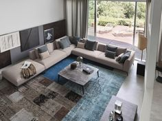 OLIVIER Sectional sofa Olivier Collection by Flou design Mario Dell'Orto, Emanuela Garbin