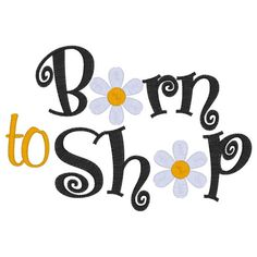 Born to Shop Embroidered Shirt on Etsy, $20.00