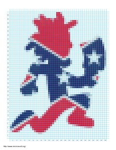 Peyote Stitch Patterns, Bead Loom Patterns, Perler Patterns, Beading Patterns, Crochet Patterns, Pixel Art, Graph Paper Art, Confederate Flag, Joker And Harley Quinn