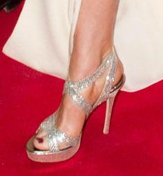 #Light-catching metallic sandals