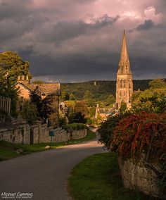 Edensor, Derbyshire, England by mcumminsphotos