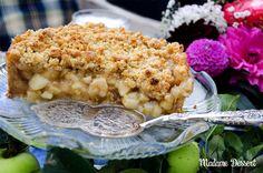 Crunchy Crumble Apple Pie | Madame Dessert | Dieser lauwarme Crunchy Crumble Apple Pie darf auf keiner herbstlichen Kuchentafel fehlen! Dazu gibt's gleich noch eine vegane Variante! #Rezept #vegan #laktosefrei