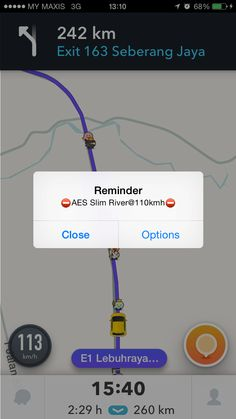 AES speed camera Location Reminder with customized AES speed camera alert distance
