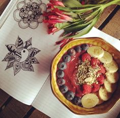 """Eating and doodling my two favorite things"" Instagram @ veggiejones"