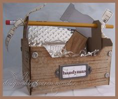 Love this tool box Lauren Meader Created for Father's Day