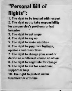 5 dating bill of rights