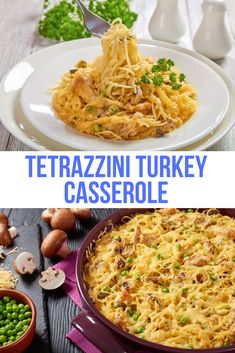 Are you looking for an easy leftover turkey recipe? This one for turkey tetrazzini is bound to become your favorite. Don't have turkey? You can substitute chicken or tuna as well. This cheesy easy dish will be one you won't even have to scrub because it will be empty and scrapped clean before you know it. #TurkeyTetrazzini #TurkeyCasserole
