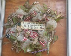 Check out this item in my Etsy shop https://www.etsy.com/listing/453087988/fishing-wreath-fisherman-wreath-jute