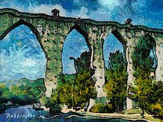 AQUEDUTO BY VANDA MALVIG.  Dynamic Auto Painter is a sophisticated set of digital brushes and controls allowing creation of paintings based on reference photos. With skill these digital paintings and those of traditional media are indistinguishable. Scroll through Pinterest pins of high quality Dynamic Auto Painter artwork and see if you are not impressed with digital paintings. SEE MORE DIGITAL PAINTING AS ART NOW.... https://richard-neuman-artist.com/works
