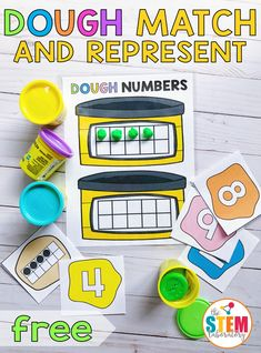When a math game and a colorful tub of playdough mix into one activity, it's sure to be an engaging activity for kids!Get your students excited about ten frames and number recognition from with this fun playdough freebie. It's perfect for practicing n Number Games Preschool, Fun Math Activities, Numbers Kindergarten, Number Games For Preschoolers, Writing Prompts For Kids, Kids Writing, Envision Math, Number Recognition, Ten Frames