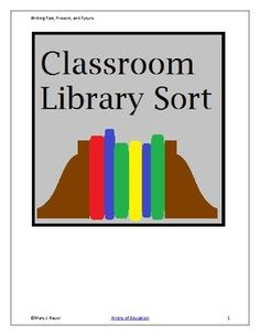 Students classify books in their classroom library by genre: realistic contemporary fiction, historical fiction, science fiction, and fantasy. Teaching Genre, Teacher Notebook, Historical Fiction, Sorting, Science Fiction, Students, Classroom, Education, Books