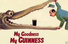 """Vintage """"My Goodness, My Guinness"""" Poster"""