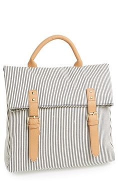 simple & striped backpack
