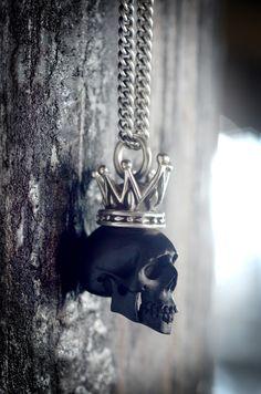Black Skull Pendant