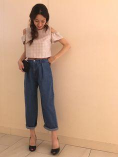 yukaさんのシャツ/ブラウス「JILLSTUART カラーハウンドトゥースブラウス」を使ったコーディネート