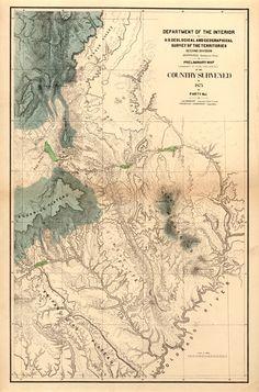 USA Survey Map 1875