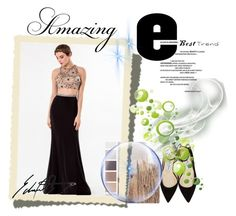 """""""Floor-length Chiffon Prom Dress"""" by johnnymuller on Polyvore featuring Jimmy Choo and Champion"""