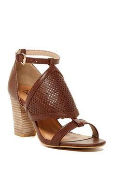 fab7a0ffaf00f2 Carrini Vibbie Heeled Sandal Tan High Heels