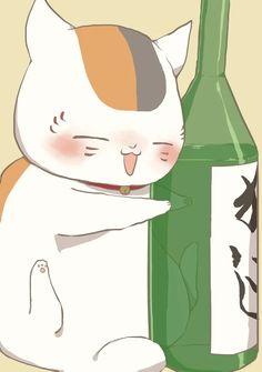 [Daily Book of Friends Tipsy Nyanko-sensei : Natsume Anime Angel, Natsume Takashi, Friend Anime, Friend Book, Drawing Prompt, Natsume Yuujinchou, Aesthetic Painting, Manga Characters, Kawaii Drawings