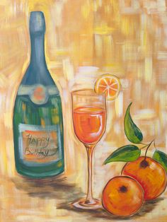 1000 images about the art sherpa full art lesson gallery for Easy wine bottle painting ideas