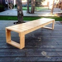Holzbank Ideen im Freien Wooden bench ideas outdoors Outdoor bench ideas from recycePlants in the bedroom:Outdoor bench made mi Wood Bench Plans, Garden Bench Plans, Patio Bench, Woodworking Furniture Plans, Diy Woodworking, Woodworking Classes, Outdoor Benches, Youtube Woodworking, Woodworking Machinery