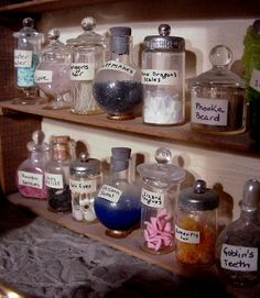 Henry had an impressive collection of potion ingredients by the time he was 11. Now a teen alchemist, he easily has ten times the amount shown in this snapshot.. #thedoorinthesky #fantasy