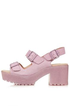 #NOVICE  #Chunky #Buckle #Sandals #glitter #pink #paste #summer