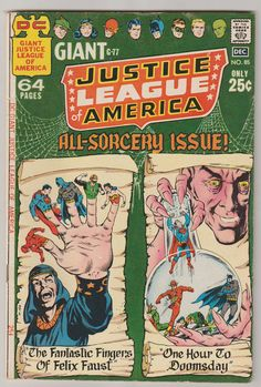 Justice League of America V1 85.  FN/VF.  by RubbersuitStudios #justiceleague #felixfaust #comicbooks
