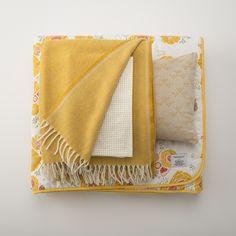 Gold Merino Wool Throw   Blankets + Throws   Bed + Bath
