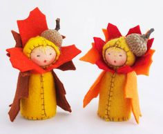 Sweet Waldorf Inspired Flower Dolls That Celebrate The Seasons Mushroom Felt Doll – Inhabitots Waldorf Crafts, Waldorf Toys, Steiner Waldorf, Felt Fairy, Clothespin Dolls, Nature Table, Autumn Crafts, Paperclay, Flower Fairies