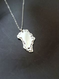 Greenland Pendant in Copper or Sterling Silver by sprout1world, $45.00