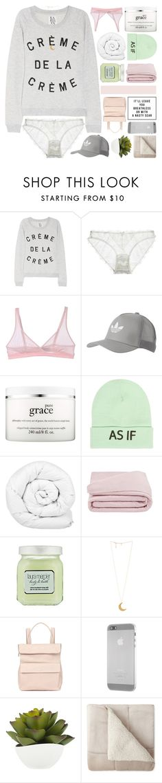 """""""(re·gret)"""" by d-isappear ❤ liked on Polyvore featuring Zoe Karssen, Mimi Holliday by Damaris, Cosabella, adidas Originals, philosophy, Wet Seal, Brinkhaus, Frette, Laura Mercier and Whistles"""