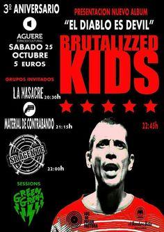 """presentación del nuevo albúm de Brutalizzed Kids """"El Diablo es Devil"""" que tendrá lugar el próximo 25 de Octubre en el AGUERE CULTURAL"""