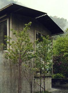 Peter Zumthor's home in Haldenstein, 2005. Via.