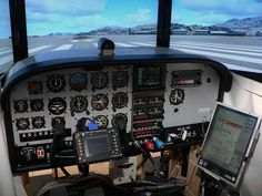 """Cessna C-172 / C-182 / C-182 RG cockpit for Flight Simulator 2004 and FSX  Project started on August 2008"""