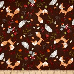 Coupon 45X55CM - Forest Friends Animals Brown  EXPEDIE A PARTIR DU 30 JANVIER