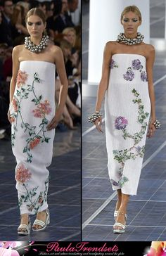 Chanel dresses fashion spring summer 2013 but this dress won't move her around much. Nice though.