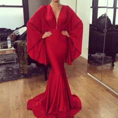 Stunning red satin stretch kimono gown  this dress is so exquisite and unique looks incredible on and fits absolutely amazing also available in white black coral turquoise wine and navy email JMCOSTELLO3@YAHOO.COM FOR ORDER INFO OR CALL JEN. 2136893020